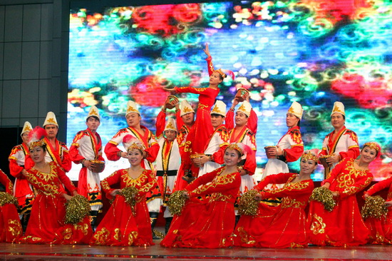 新疆兵团大学生村官奉献迎新春文化大餐